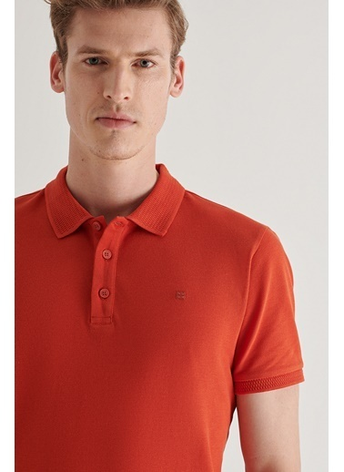 Avva Erkek  Polo Tişört A11B1146 Kiremit